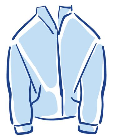A cool blue jacket with good quality vector color drawing or illustration