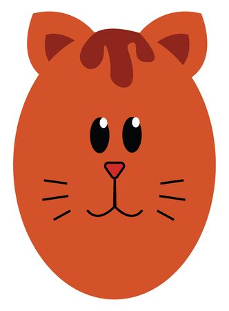 A cartoon of a cat which is showing only its face vector color drawing or illustration 矢量图像
