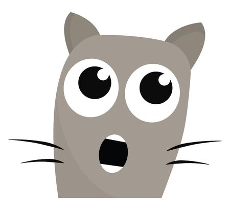 cartoon of a cat with its mouth wide open in shock vector color drawing or illustration Archivio Fotografico - 132663181