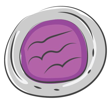 A eye shadow with a single violet color in it vector color drawing or illustration
