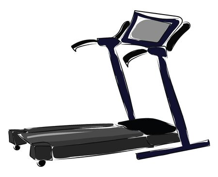 A treadmill with a monitor to track the workouts vector color drawing or illustration