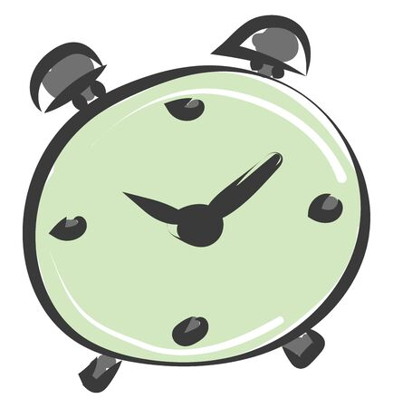 A clock with the option to set alarm vector color drawing or illustration