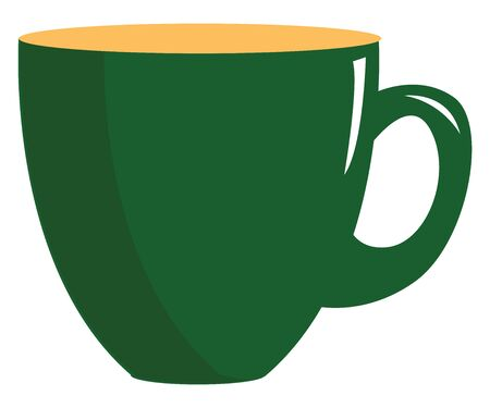 A cute green cup with orange top vector color drawing or illustration Ilustrace