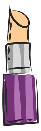 A container of petroleum jelly in violet color vector color drawing or illustration Çizim