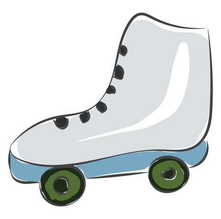 A skating show with green roller at the bottom vector color drawing or illustration