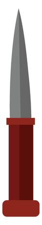 Clipart of the knife  an implement composed of a sharp silver blade fixed into a red handle  used for cutting or as a weapon  vector  color drawing or illustration 일러스트