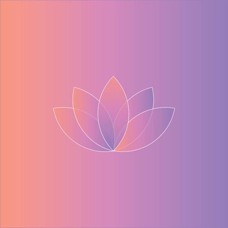 Portrait of a white lotus over a pink gradient background and looks beautiful  vector  color drawing or illustration 向量圖像