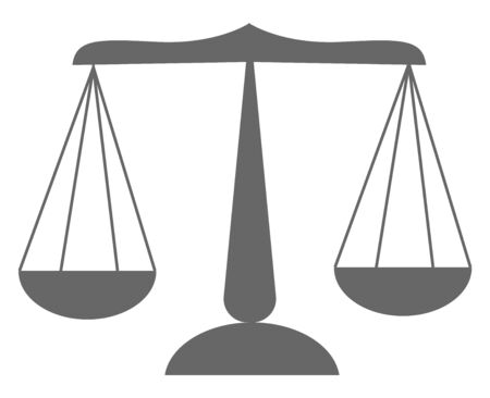 Cartoon image of a grey libra  a unit of weight  equivalent to 12 ounces (0.34 kg)  typically used in ancient Rome  vector  color drawing or illustration