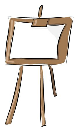 Stand drawing board hand drawn design, illustration, vector on white background.