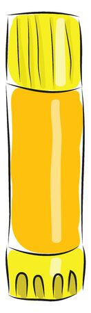 flask hand drawn design, illustration, vector on white background.