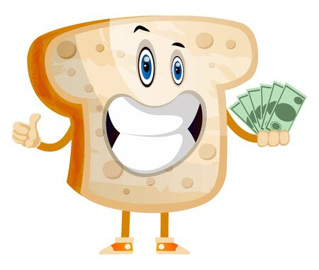 Rich Toast illustration vector on white background