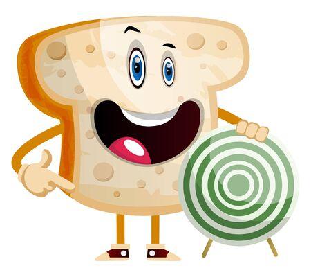 Target Bread illustration vector on white background Ilustrace