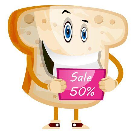 Bread on sale illustration vector on white background