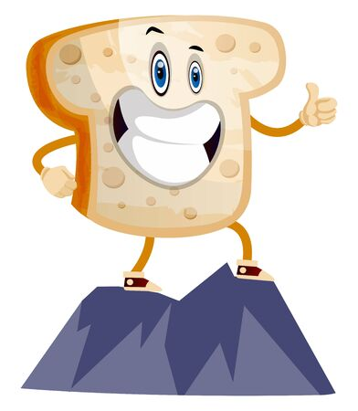 Toast on Mountain illustration vector on white background Banque d'images - 132669137