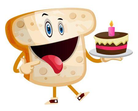 Sweet Toast illustration vector on white background