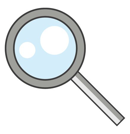 A big magnifying glass to look through , vector, color drawing or illustration.