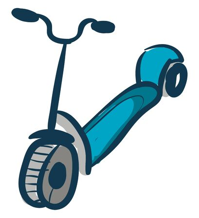 Scooter hand drawn design, illustration, vector on white background.