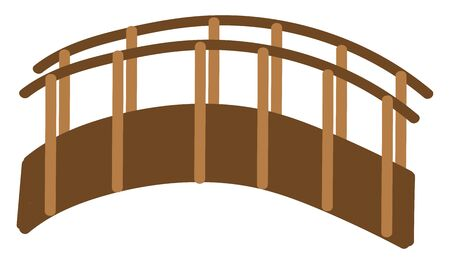 Bridge hand drawn design, illustration, vector on white background.