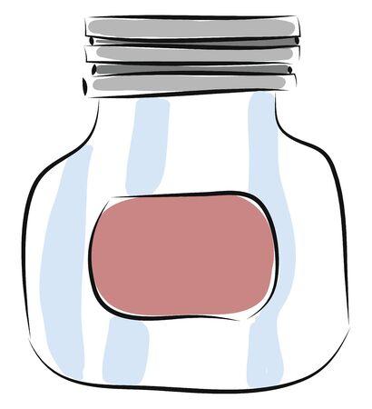 Jar hand drawn design, illustration, vector on white background.