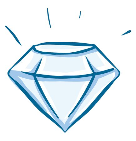 A beautiful sparkling white diamond which is brightly shinning , vector, color drawing or illustration. 版權商用圖片 - 132734666