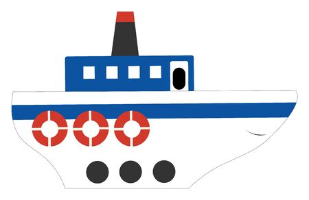 A very big passenger ship which is ready to board the passengers , vector, color drawing or illustration.