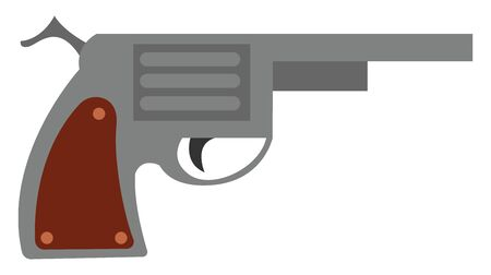 A gun which is new and loaded with bullets , vector, color drawing or illustration. 向量圖像