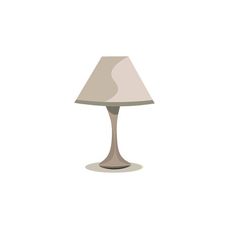 A gray desk lamp that has shadow on one side., vector, color drawing or illustration. Illustration