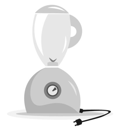 A blender with disconnected socket, with blades, vector, color drawing or illustration.