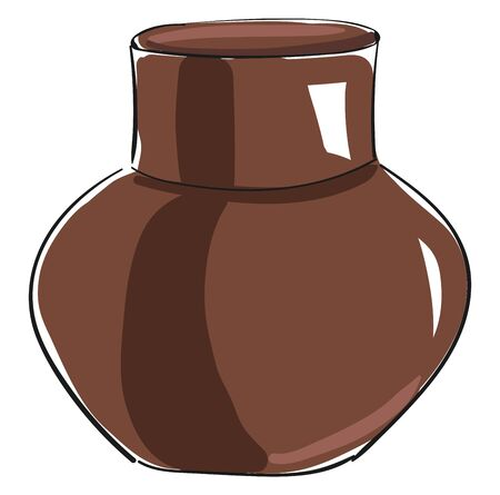 An old brown jug for carrying liquid, vector, color drawing or illustration. Illusztráció