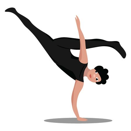 It is a dance form that combines music and martial art, originating in Brazil., vector, color drawing or illustration.