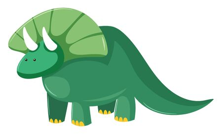 It is any of numerous extremely large extinct reptiles which in prehistoric times., vector, color drawing or illustration.