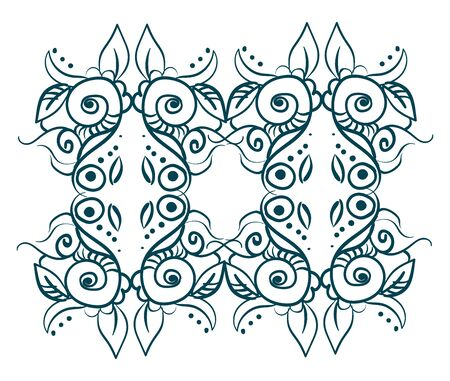 It is decoration and pattern used to enhance the appearance of building or object., vector, color drawing or illustration.