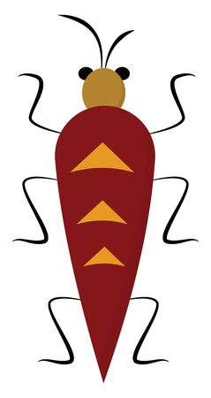 It is a small insect., vector, color drawing or illustration.