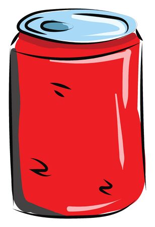 It is carbonated caned beverage., vector, color drawing or illustration.