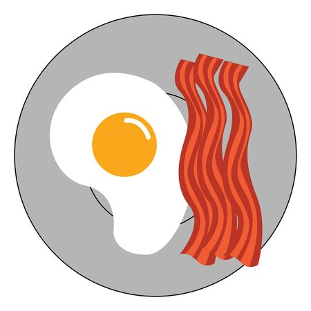 It is frying of egg with on a frying pan., vector, color drawing or illustration.