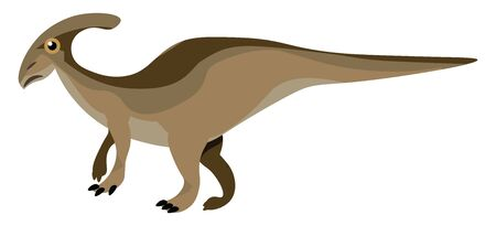 It was a herbivorous reptile of enormous size., vector, color drawing or illustration.