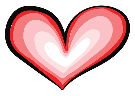 This is a symbol of heart and it is normally used as an indicator of love., vector, color drawing or illustration.