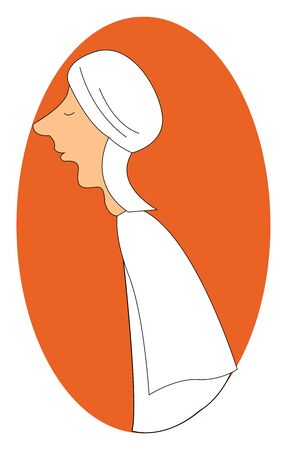 Arabs are the people who speak Arabic and from the Middle East and North Africa., vector, color drawing or illustration.