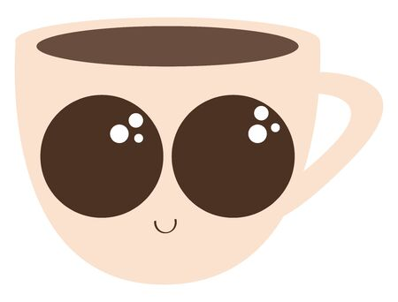 Coffee cups are used for serving the coffee., vector, color drawing or illustration. Ilustração