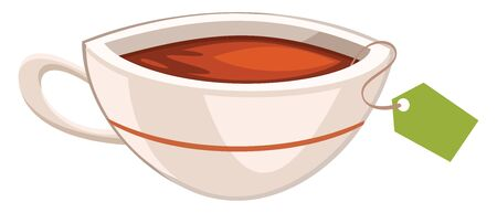 It is a typed of blended black tea with a robust flavor., vector, color drawing or illustration.