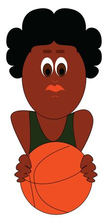 The players who play basketball are called basketball player., vector, color drawing or illustration.