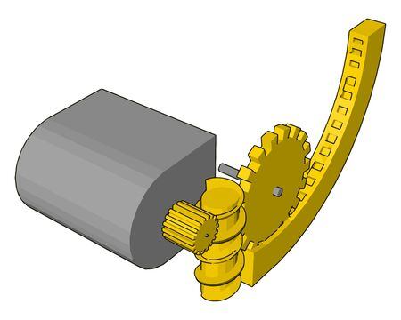 Tape measure, illustration, vector on white background. Çizim