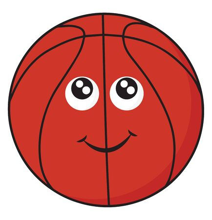 It a round object used in playing basketball., vector, color drawing or illustration. Illustration