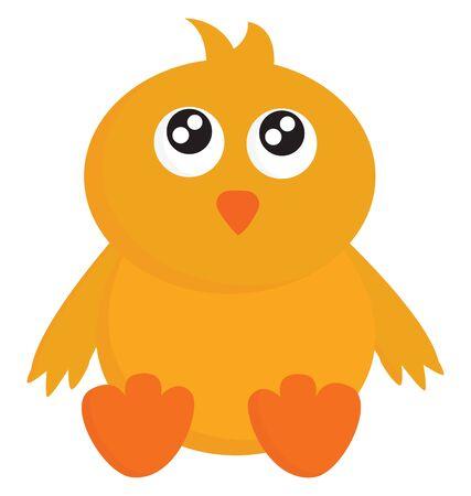 C'est une volaille domestique élevée pour la chair ou les œufs., vecteur, dessin en couleur ou illustration.