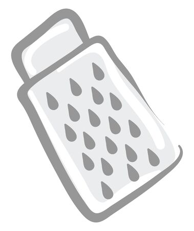 Grater drawing, illustration, vector on white background.