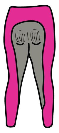 Pink breeches, illustration, vector on white background. Vetores