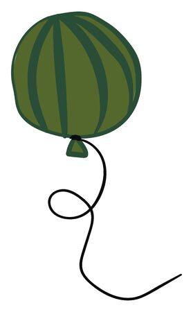A balloon is made of thin rubber, usually inflated with air or with light gas. It is used by children to play or as decoration., vector, color drawing or illustration.