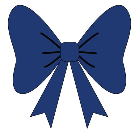 It is a necktie in the form of bow, worn specially by men on formal occasions., vector, color drawing or illustration.