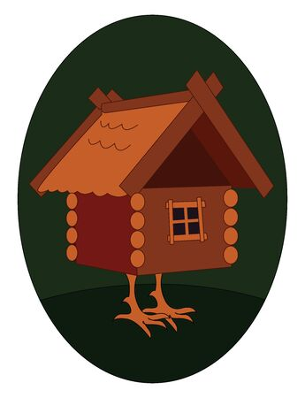 House with legs, illustration, vector on white background.