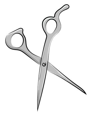 Scissors, illustration, vector on white background. Фото со стока - 132701833
